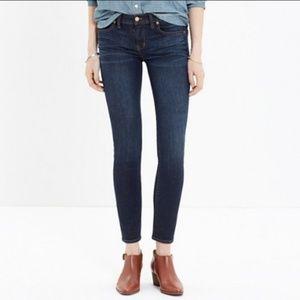 Madewell Skinny Skinny Crop Dark Wash Jeans